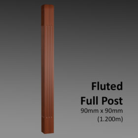 Fluted Full Post