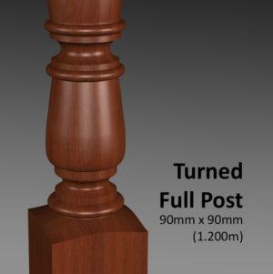 Turned Full Post CU