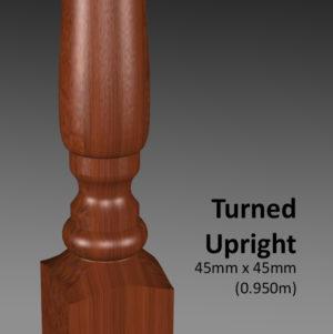 Turned Upright CU