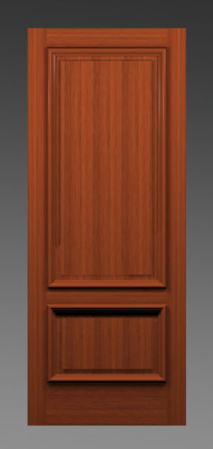 French Two Panel Heavy Bolection Door