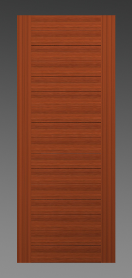 Horizontal Slatted Door In Styles